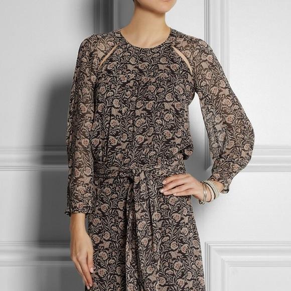 d7e58e5c6 Isabel Marant Dresses & Skirts - Isabel Marant Floral Maxi Dress with Scarf  FR38